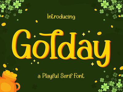 Golday - Playful Serif Font love font