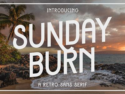 Sunday Burn - A Retro Sans Serif poster