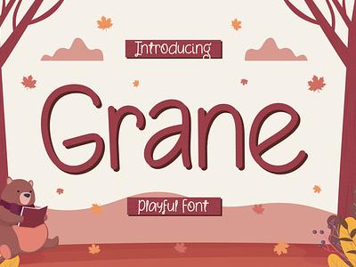Grane - Playful Font story book