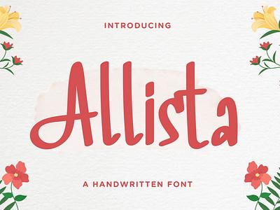 Allista - Fancy Handwritten Font pitcher