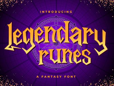 Legendary Runes - Fantasy Font love font magic