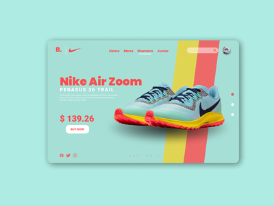 Nike Sneakers website design graphic design branding website ux app icon design web ui