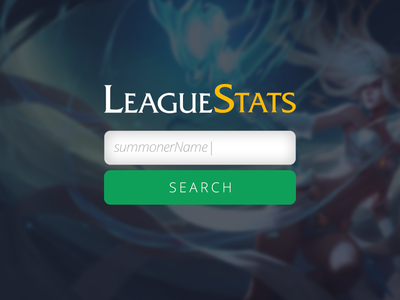 LeagueStats Search Page
