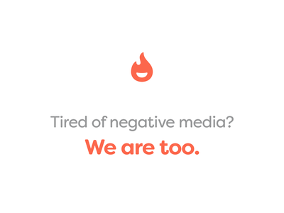 InspireMore inspiring inspire website news company mark icon clean simple fire negative orange spark smiley smile logo flame media campaign branding
