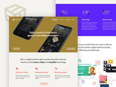 We 👏 Have 👏 A 👏 New 👏 Website 👏 studio case studies about us products digital apps home agency desktop mobile portfolio ui launch website