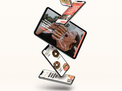 🚨🚨 New Website Launch 🥐 🍩 stain crumbs sprinkles chocolate orange food online order catering landing page coffee restaurant breakfast menu hero mobile phone ui website donut croissant