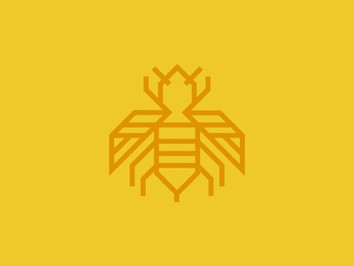 Wasp Icon wasp icon design monoweight wing fly bug logo