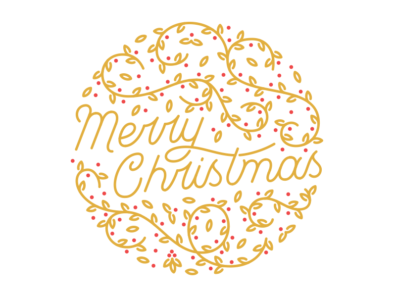 merry christmas vector by jeff smith for full swing studio on dribbble merry christmas vector by jeff smith