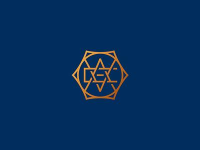 Aveo branding restaurant identity bronze gradient simple sharp gold hexagon design logo monogram