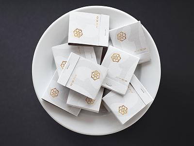 Aveo Matchboxes simple clean design identity match print gold logo restaurant branding matchbox