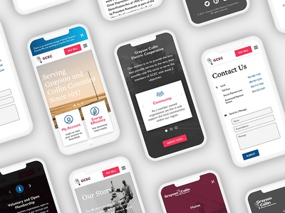 Mobile Screens Mockup clean company electric about website interface system mobile design web ui