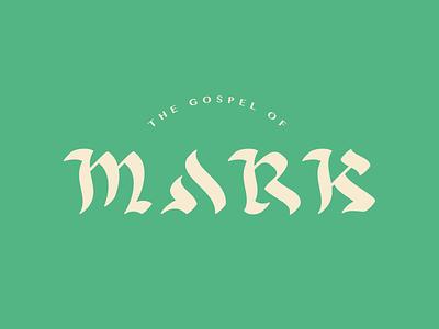 Mark Script gospel design old typography type lettering script hebrew logo bible mark