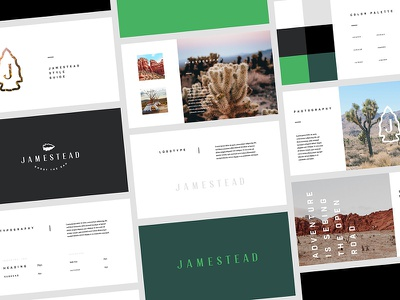 Jamestead Brand Guidelines palette messaging style identity adventure vector lockup logo travel guidelines brand photo