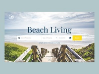 Beach Real Estate Concept