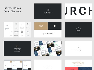 Citizens Styles icon king kingdom clean simple citizen church love crown branding logo guidelines brand style