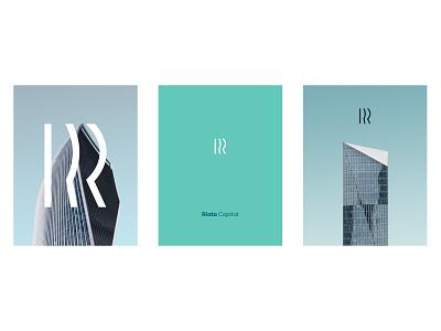 Riata Capital Visual Style professional clean monogram r skyscraper architecture identity logo equity private capital venture branding