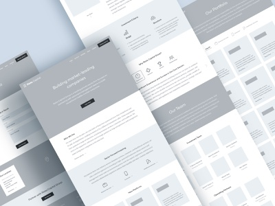 Riata Wireframes home contact about portfolio figma wireframes pages desktop icons story ui tagline wireframe branding marketing website equity private capital venture