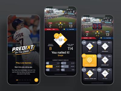 More Predikt Screens screens correct teams prediction predict product ux ui play choose select pick timer countdown clock baseball design mobile app sports