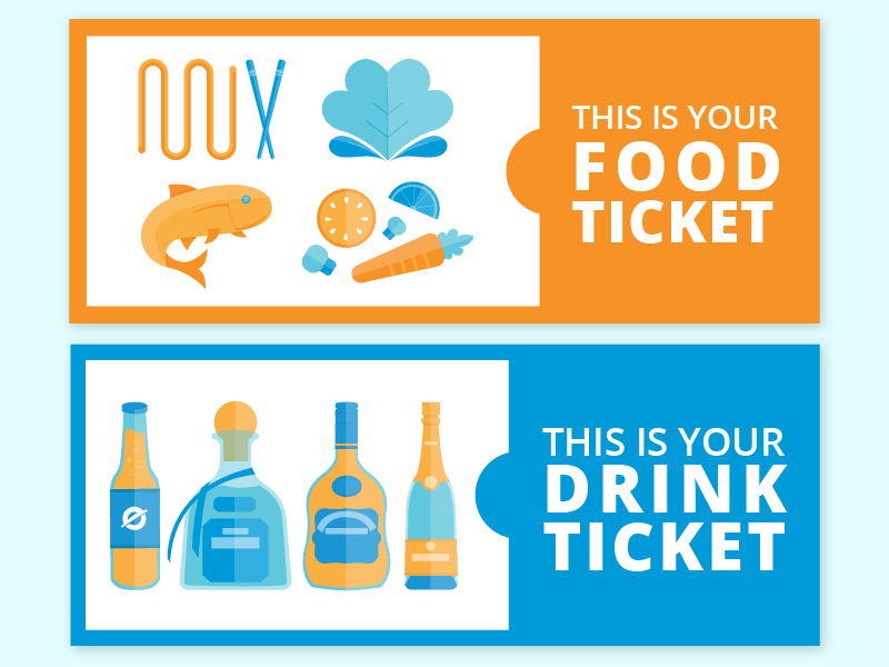 food  u0026 drink ticket by denise v on dribbble
