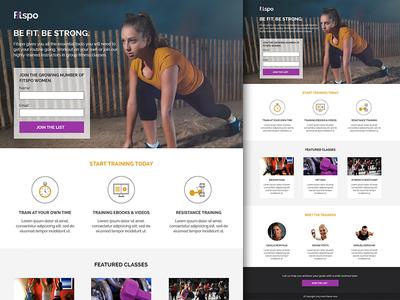 Fitspo Lead Generation Click Through Template By Denise - Lead generation website template