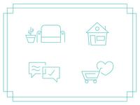 Furniture Shopping Icons