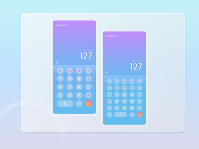Daily UI 4/100 Calculator calculator mobile ux uiux illustration ui design dailyui app