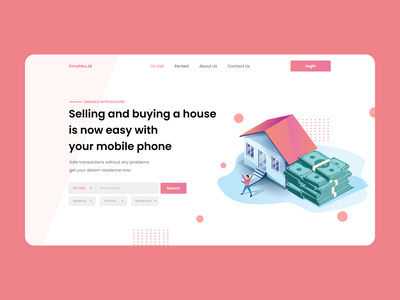 Landing page - Sell / buy a house website sales page ux uiux ui house