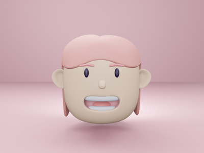 My Face with 3D 3d 3d cartoon 3dcharacter 3d artist dailyui uiux ui blender3d blender