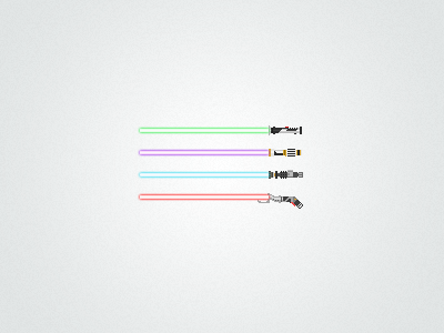 Pixel lightsabers star wars pixel lightsaber