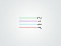 Pixel lightsabers