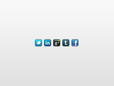 Sociable icons icon social facebook twitter google tumblr linkedin