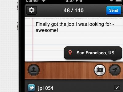 Sociable - new app interface app iphone ios interface sociable