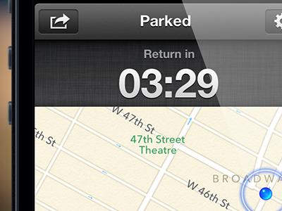 Timer timer park iphone map