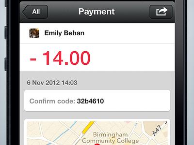 Payment detail retina iphone payment map ios app