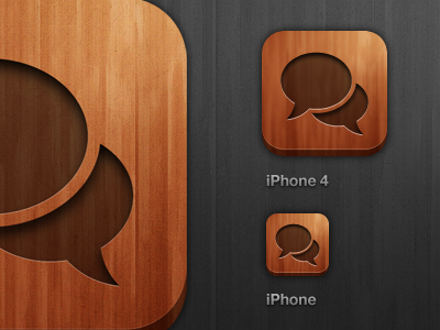 Sociable for iPhone icon iphone icon wood brown