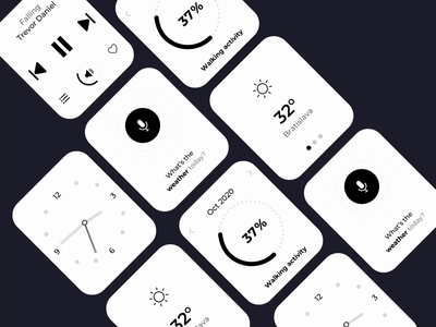 Watch UI Kit flow 👌 flow forcast weather siri animation userexperience ux kit lifestyle business monochrome monocolor greyscale blackandwhite clock kit wireframe apple watch watch