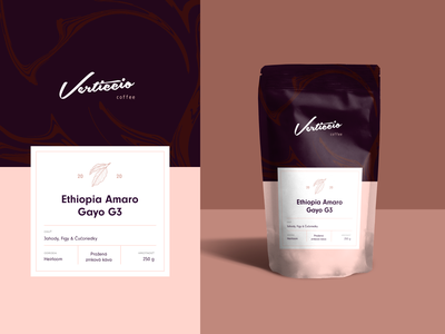 Coffee packaging for Verticcio ☕️ colors woman mockup package mockup taste chocolate package beans ethiopia coffeeshop brand packaging branding coffee
