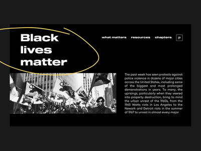 #blacklivesmatter designs elegant promo landingpage landing brush racism black and white easing animation design black blacklivesmatter