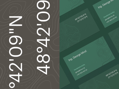 Surveyor business card surveyor minimalist modern simple elegant free mockup mockup pattern texture map motion wood stone leaf green nature card business business cards branding