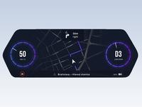 Virtual Cockpit | Automotive Cluster Concept minimal ui cluster automotive night dark cockpit car virtual