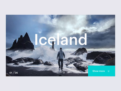 North Landing Page travel app travel inspiration smooth explore north fluid easing norway ireland landing page scandinavia greenland iceland animation effect parallax loop