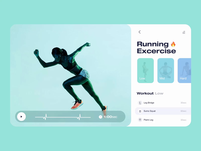 Fitness App - Choose exercise 🔥 light theme dashboard change easing tablet desktop fitness fit fitness app exercise choose assist assistant personalized personal artificial intelligence trainee trainer