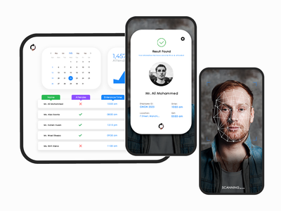 Face recognition attendance system machinevision machinelearning uidesign faceid system design ux ui artificial intelligence ai