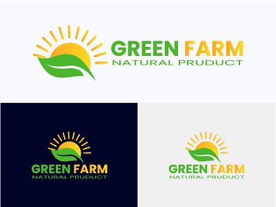 Green Farm logo | Farm logo organic newholland logo farmingsimulat logo harvest logo farmers logo brand identity creative logo design flat logo design modern logo design logo maker free logo minimalist logo farm logo
