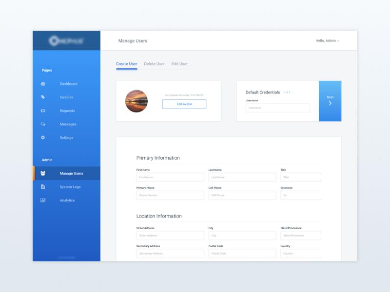 Client Dashboard material ux web minimal dashboard ui