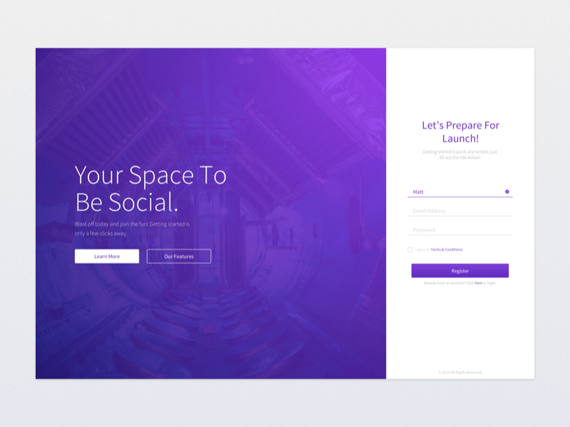 Minimal Tech Login Page tech web form login ui