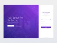 Minimal Tech Login Page