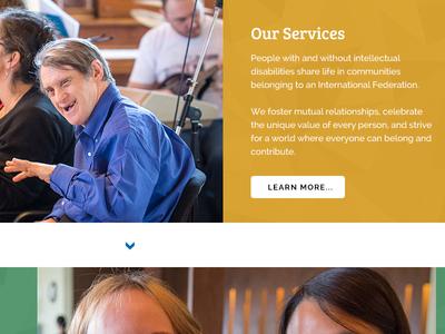 L'Arche website homepage re-design
