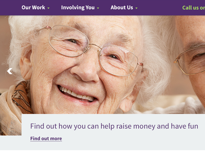 Age Concern Birmingham - charity homepage re-design