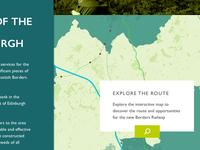 Borders Railway homepage design (desktop) – work in progress